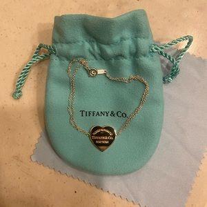 Tiffany & Co Rubedo Double Chain Heart Bracelet